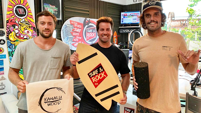 Live streaming: Kanalu Wood balance boards en Surf & Rock Radio