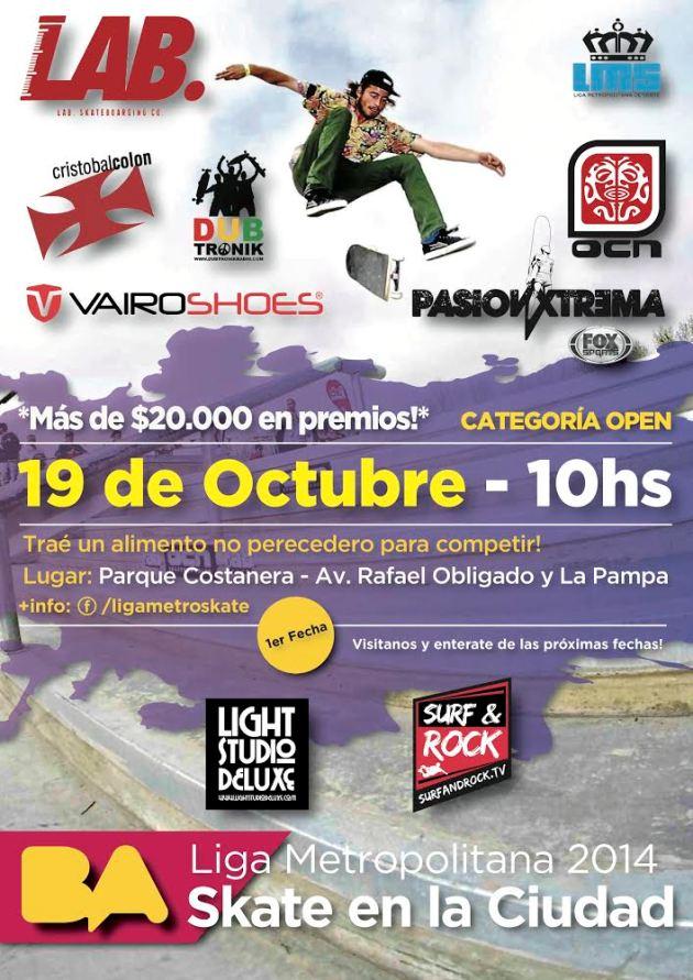 Afiche 1ra fecha - Parque Costanera con sponsors 3