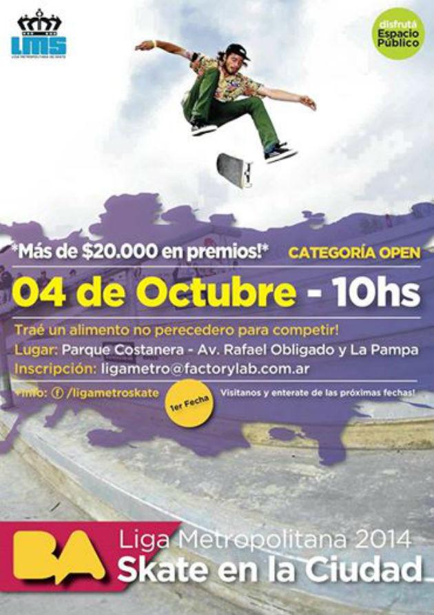 Afiche 1ra fecha - Parque Costanera
