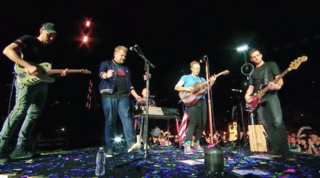 Coldplay Corden
