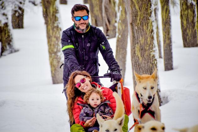 Diego Torres Deborah Bello y su hija Nina