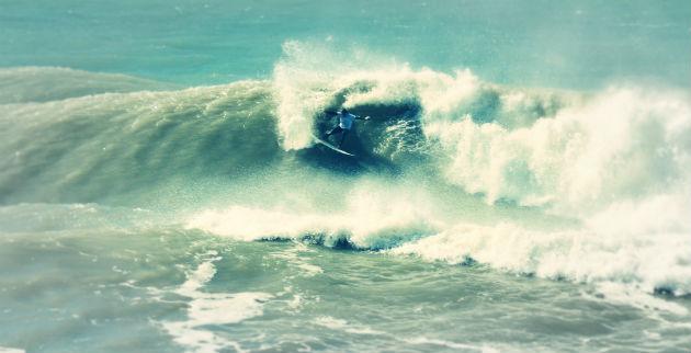 La ola mas grande del Psycho Contest en el muelle de Miramar 2013