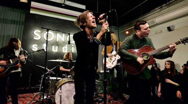 LOS ANGELES, CA - FEBRUARY 03: Cage The Elephant performs at an evening presented by Sonos and Pandora at Sonos Studio on February 3, 2015 in Los Angeles, California.  (Photo by Jerod Harris/Getty Images for Pandora Media, Inc)