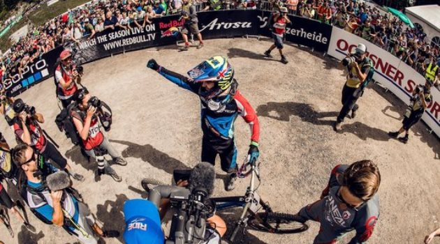 danny-hart-stands-in-the-finish-line-area-after-winning-the-lenzerheide-world-cup