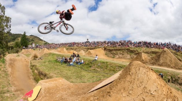 Matt Jones tricks at the Farm Jam in Winton, New Zealand on February 06, 2016