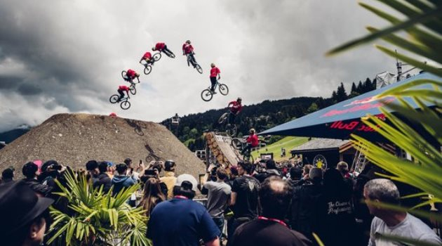 Nicholi Rogatkin performs at Crankworx in Les Gets on June 18th, 2016