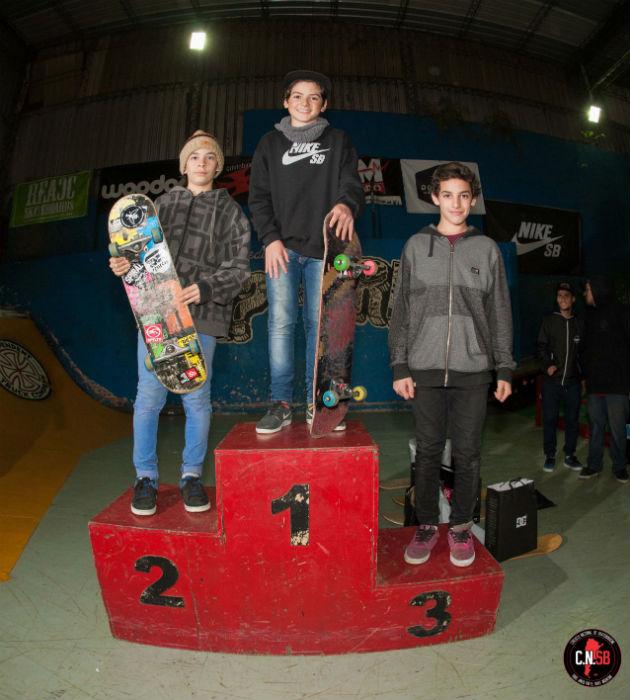 podio principiantes menores