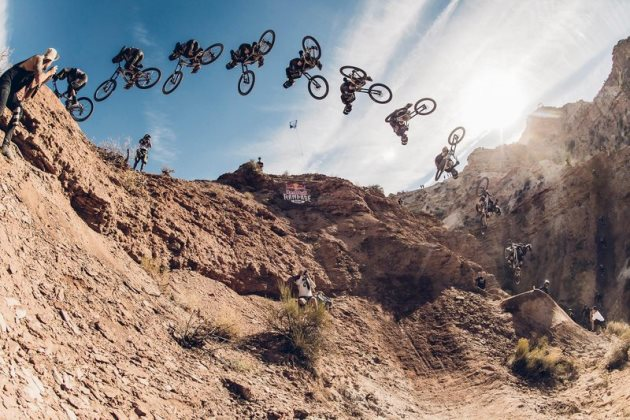 Brandon Semenuk at RedBull Rampage in Virgin, Utah on October 12, 2016